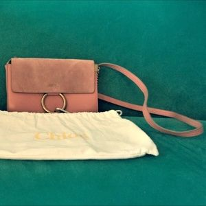 ❤ Newly Added: Chloé Leather & Suede Bag in Blush